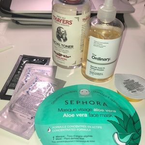 Skincare Bundle (toner, masks, and pore strips)